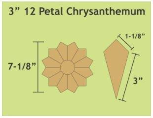 "Chrysathemum 3""  36 stk Blokker"