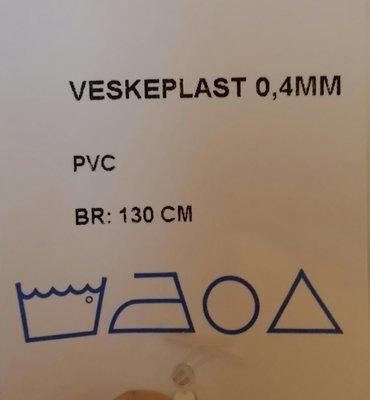 Veske plast Bredde 130 cm