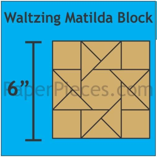 "Waltzing Mathilda 6"" Block 24 stk"
