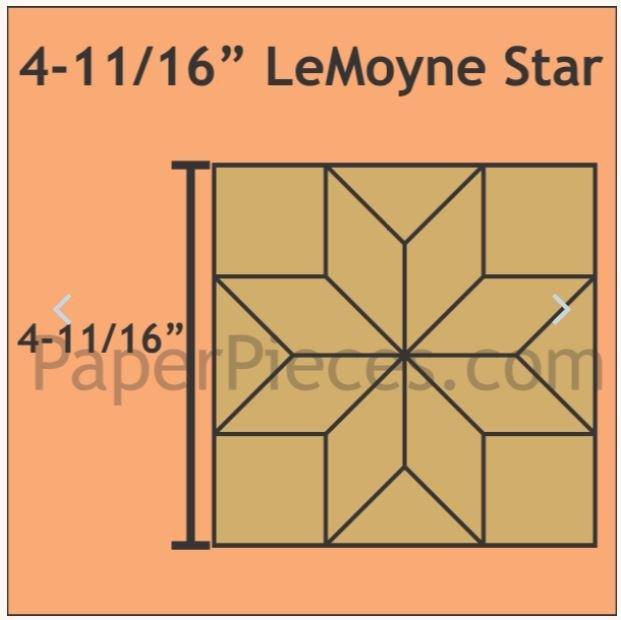 """LeMoyne Star 4 11/16"""" 6 blokker"""