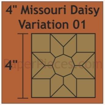 """Missouri Daysy 4"""" 8 stk blokker"""