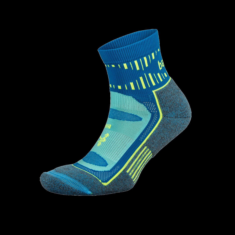 Blister Resist Quarter Running Sock: Ethereal Blue
