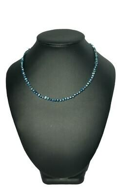 Kék barokk nyaklánc- édesvízi igazgyöngy