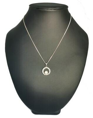 Kör alakú ezüst medál