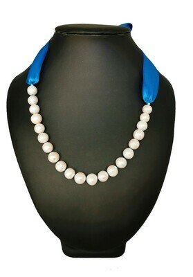 Kék szalagos nyaklánc - édesvízi tenyésztett gyöngy