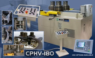 CPHV-180 - 3 Roll Double Pinch Universal Bending Machine