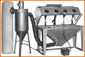Master Model 60 x 24 Split Level with 600 CFM Abrasive Separator