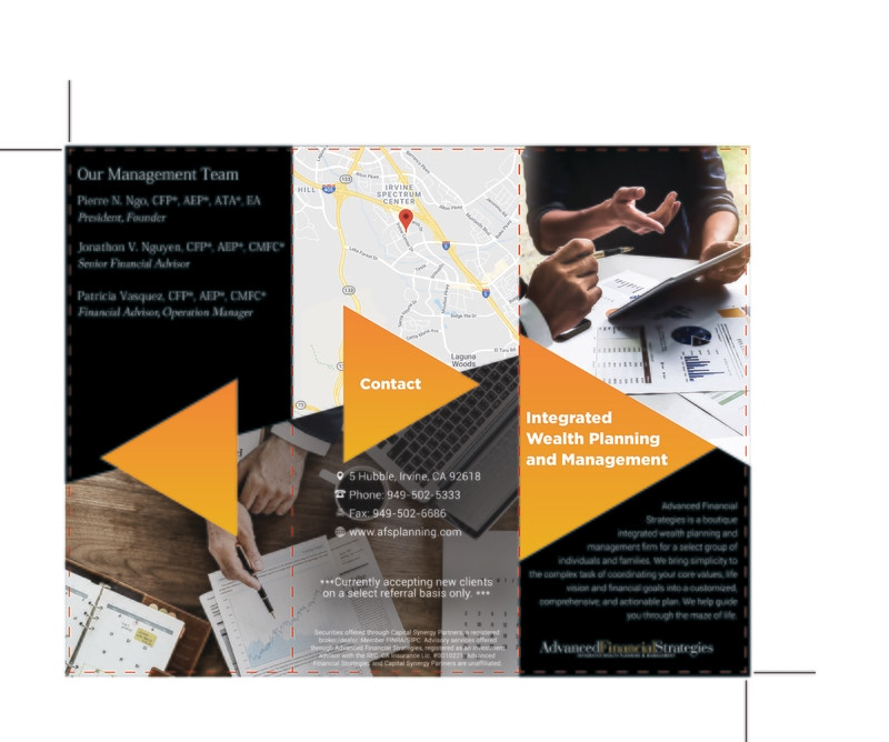 Custom Order - Advanced Financial - Brochures
