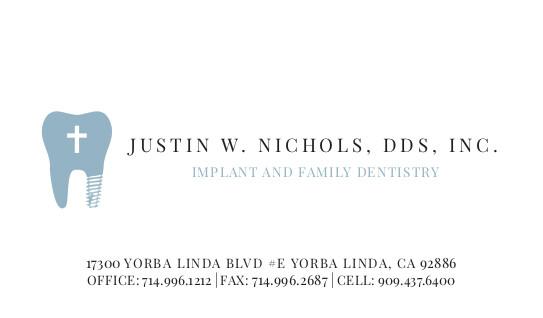 Justin Nichols - Business Cards - Reprint