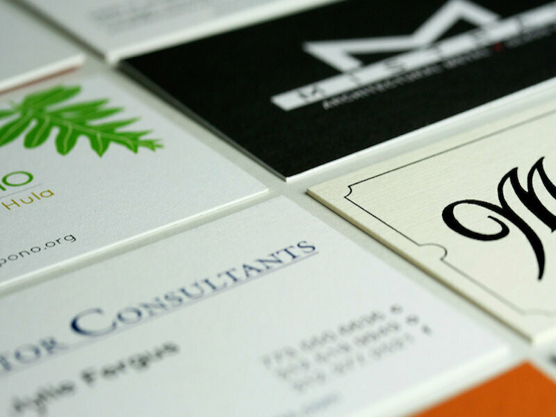 Standard Uncoated Business Cards