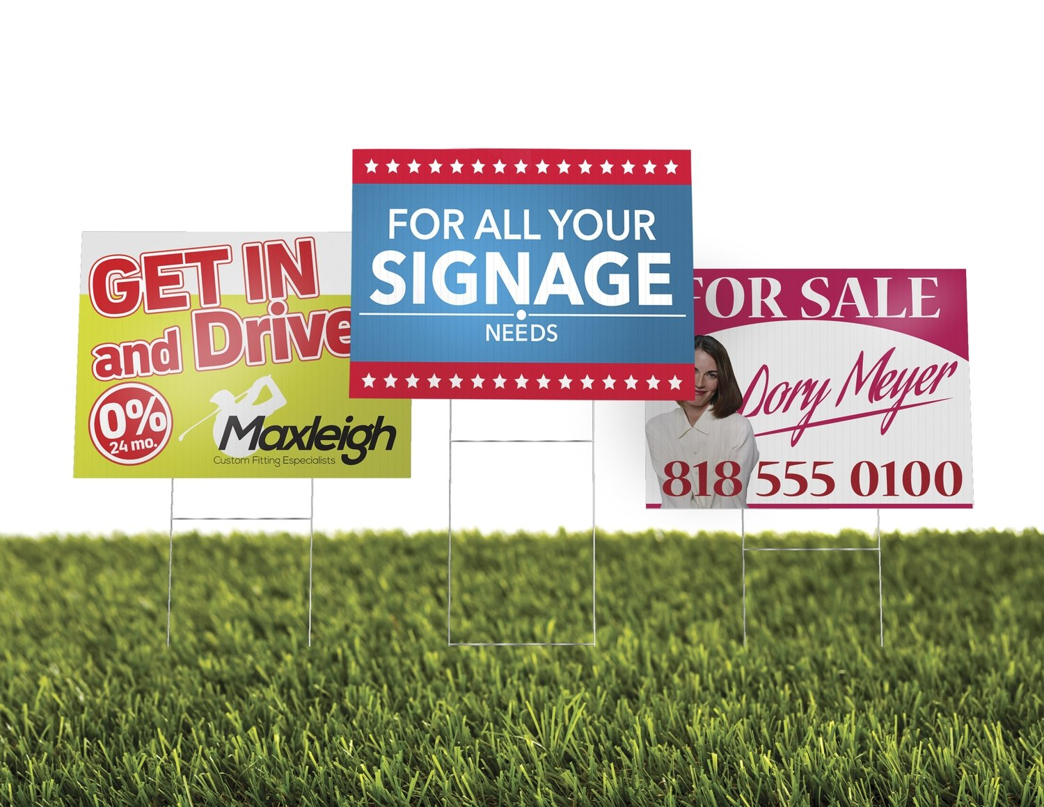 4mm - Corrugated Plastic with Optional Stands (Yard Signs) -OLD