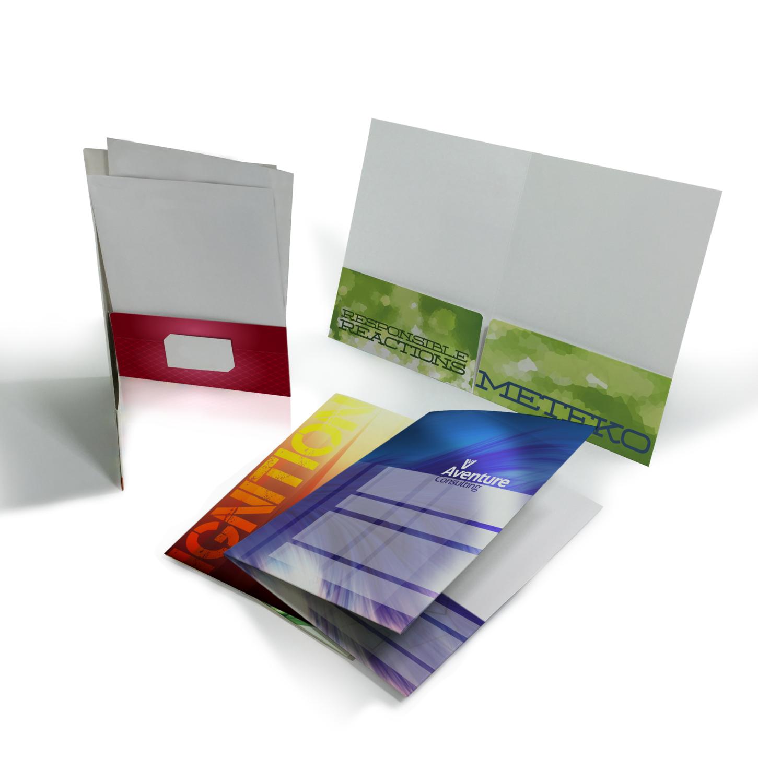 "Presentation Folders - Standard Size - 9"" x 12"" - 14pt - Gloss or Matte"