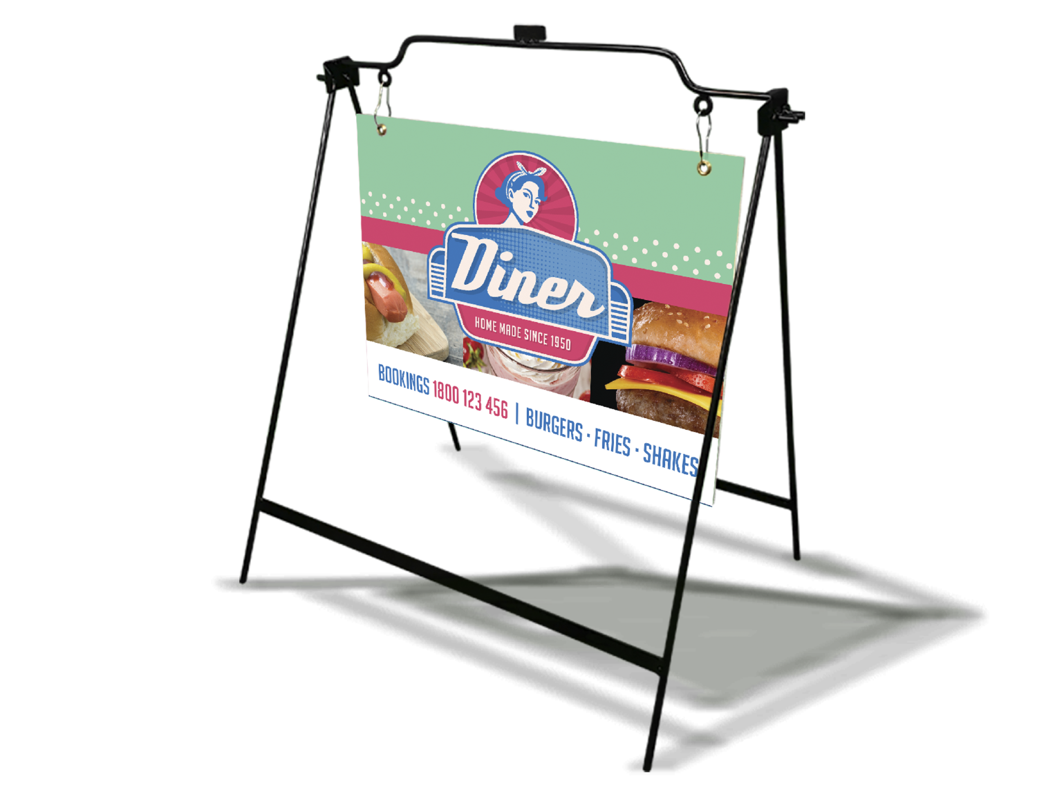 4mm - Corrugated Plastic Sign with Sidewalk Stand
