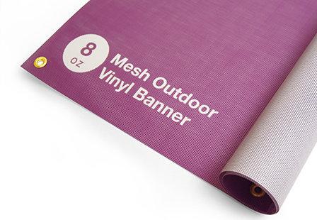 8oz - Mesh Outdoor Banner