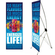 "10mil - 24"" x 60"" Matte Banner with Collapsible X-Stand"