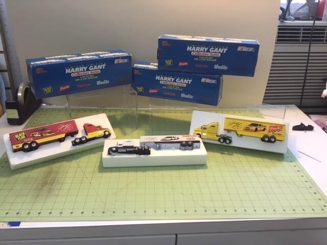 NDC137 1/64 Harry Gant Set 3 haulers 5 cars