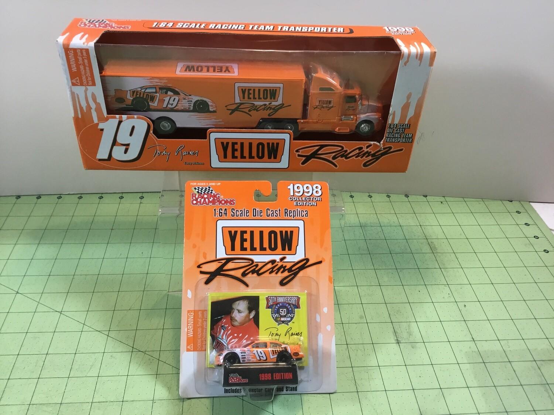 NDC141 Nascar Yellow Freight Tony Raines Hauler w/car