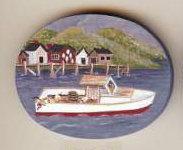 Lobster Boat  Pin