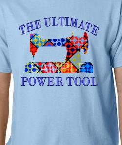 Lt. Blue Ultimate Power Tool Tee-shirt LARGE