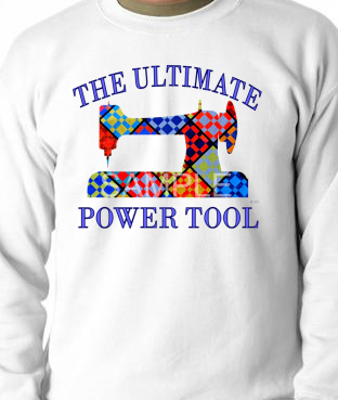 White Ultimate Power Tool Sweatshirt SMALL
