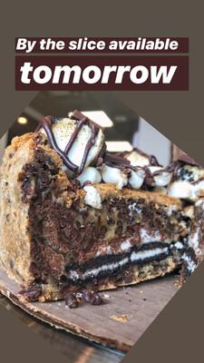 S'moreo Chocolate chip Cookie Cake Slice