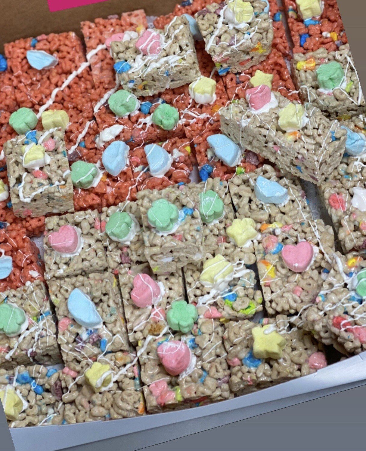 Lucky Charms Frosted Flakes Treats
