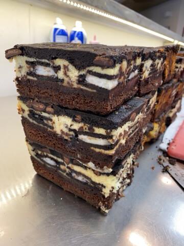 Cheesecake Cookie Dough Brownie Bars