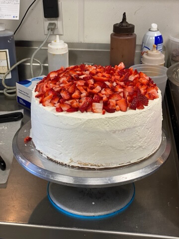 3 Layer Cannoli Strawberry Short Cake