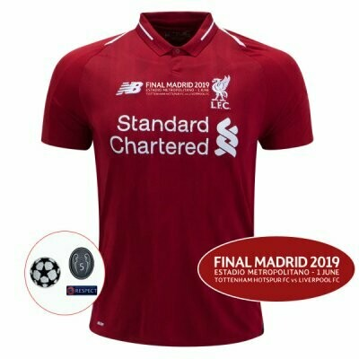 New Balance  Liverpool Official Home UCL Final Jersey Shirt 18/19