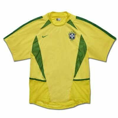 2002 Brazil Home Retro Soccer Jersey Shirt