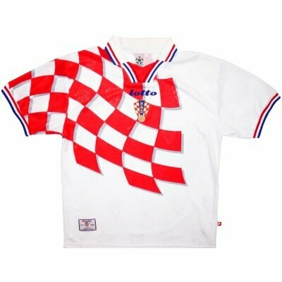 1998 Croatia Home Soccer Jersey (Replica)
