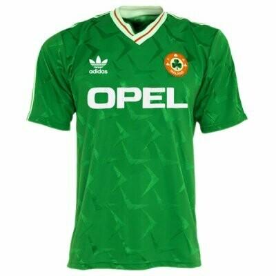 1990 Ireland Home Soccer Jersey (Replica)