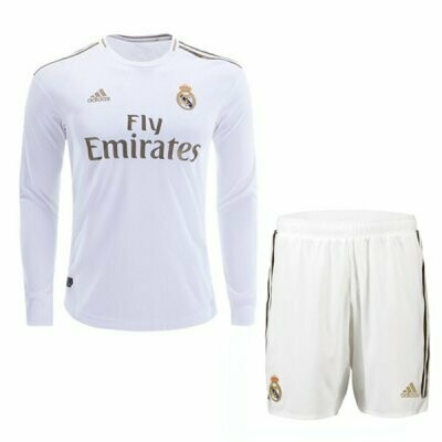Adidas Real Madrid Official Home Soccer Long Sleeve Jersey Adult Uniform Kit 19/20