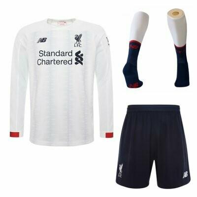 New Balance Official Liverpool Away Soccer Jersey Adult Full  Uniform Kit 19/20