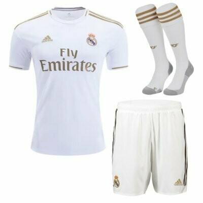 Adidas Real Madrid Home Soccer Jersey Adult Uniform Full Kit 19/20