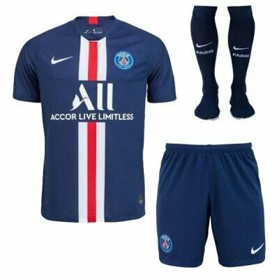 Nike PSG Official Home Soccer Jersey Adult Full Uniform Kit 19/20