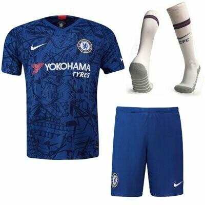 Nike Chelsea Official Home Soccer Jersey Adult Full Uniform Kit 19/20