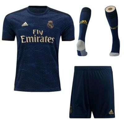 Adidas Real Madrid Away Soccer Jersey Adult Uniform Full Kit 19/20