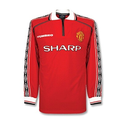 Manchester United Home Retro Long Sleeve Jersey 1998-99 (Replica)