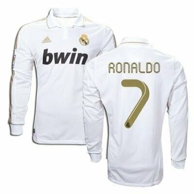 Real Madrid Home Long Sleeve Ronaldo #7 2011-12 Jersey