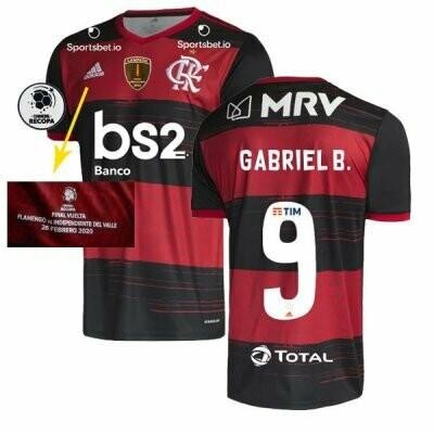 Adidas Gabigol Flamengo Recopa Sudamericana Final Jersey Shirt 20/21