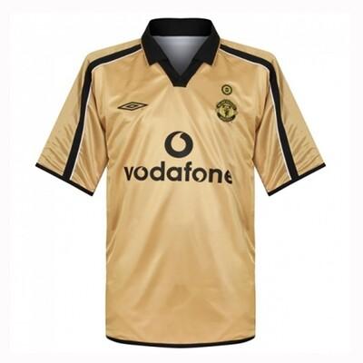 Manchester United Away Centenary Gold Retro Jersey 2001-02 (Replica)