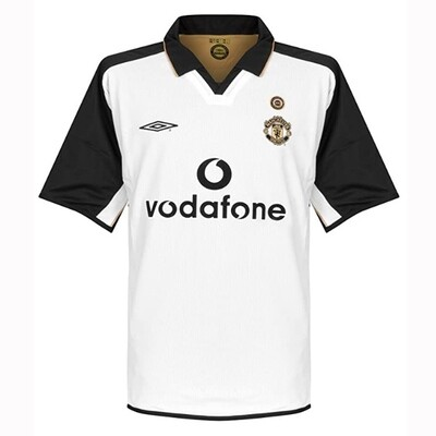 Manchester United Home Centenary Gold Retro Jersey 2001-02 (Replica)