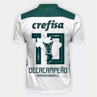 Adidas Palmeiras Deca Campeão Brasileiro Away Soccer Jersey Shirt