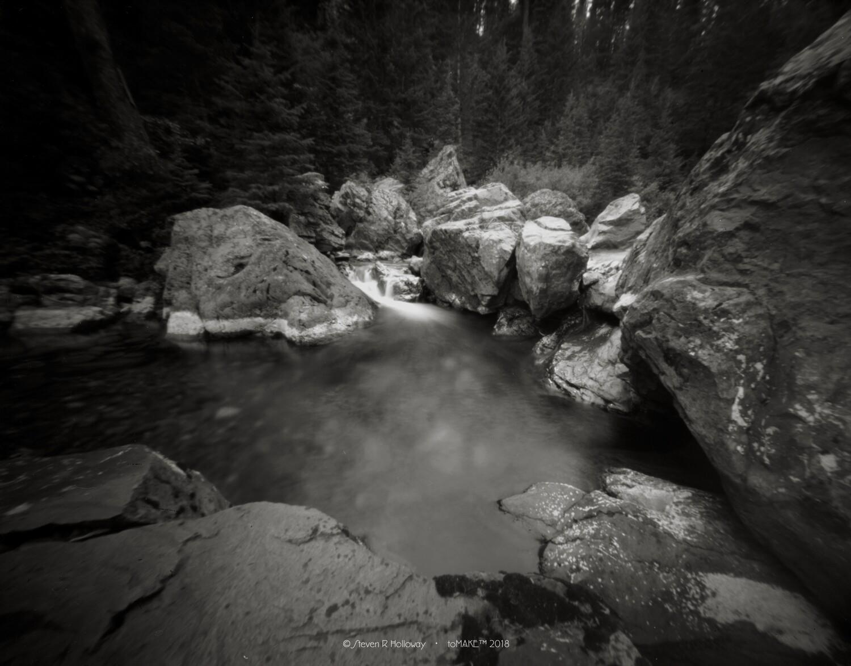 Pinhole Images: The Narrows at Dry Creek