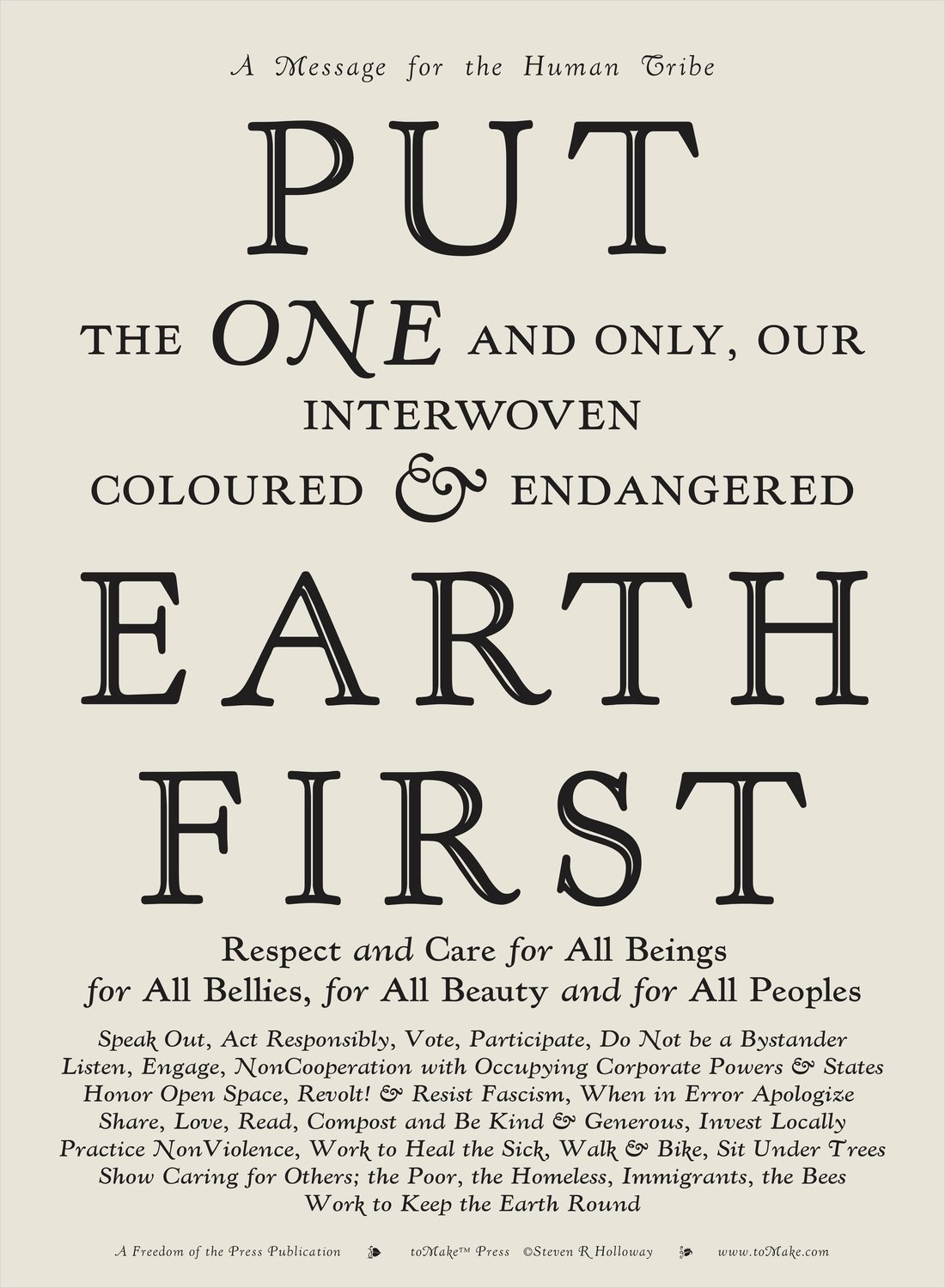 Put Earth First