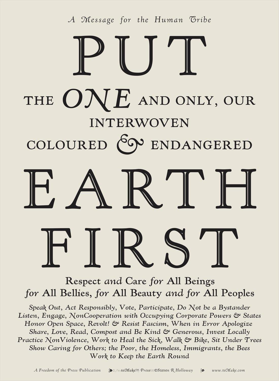 Put Earth First PDF