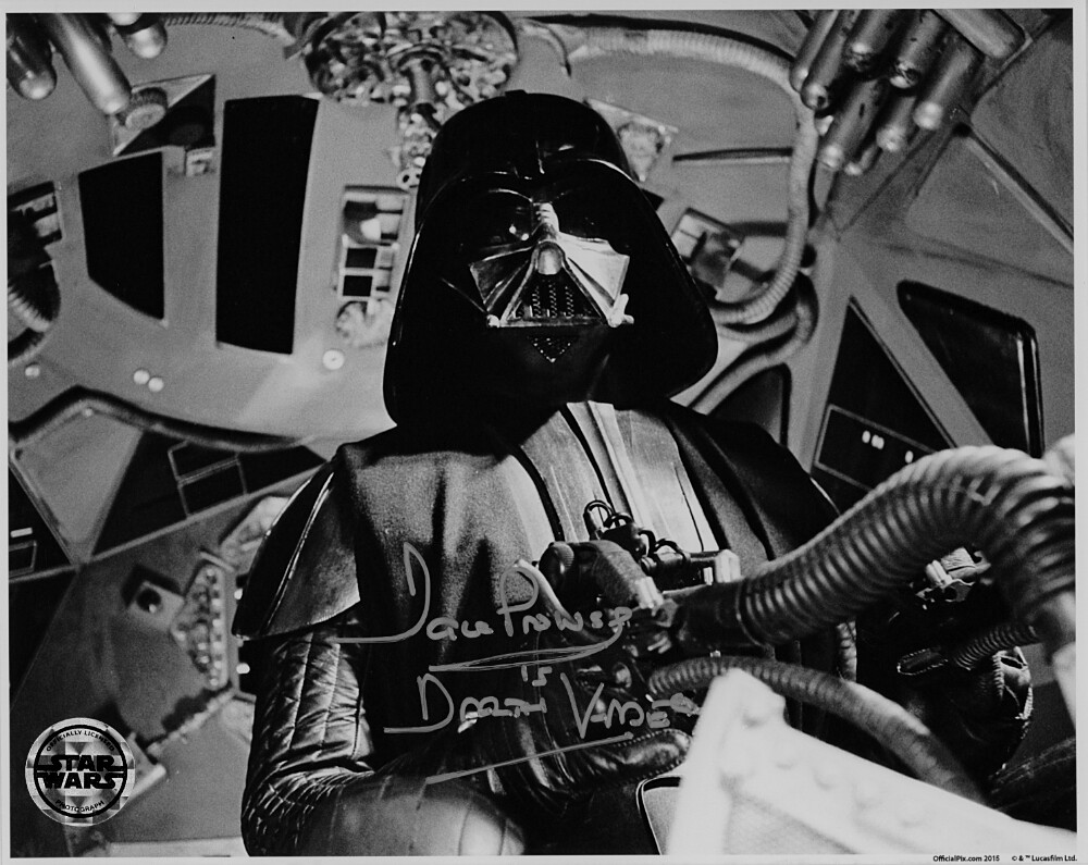 8X10 DARTH VADER PHOTO SIGNED BY DAVE PROWSE