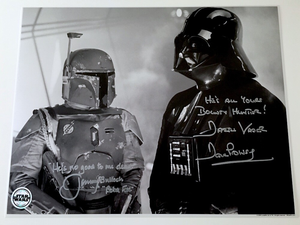 11X14 DARTH VADER PHOTO SIGNED BY DAVE PROWSE AND JEREMY BULLOCH