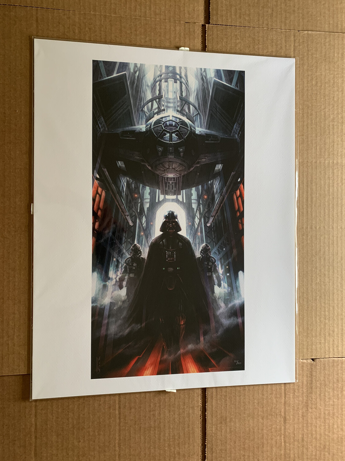 MACHINES OF DOMINION #80 OF 150 BY RAYMOND SWANLAND WITH FREE SIGNED DARTH VADER PHOTO